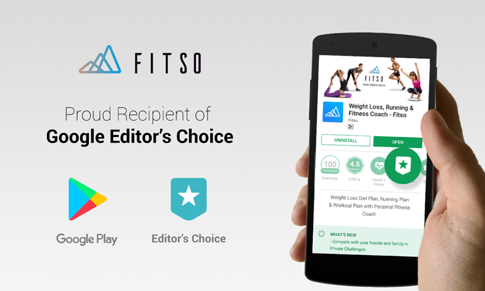 Growth Hacks - Fitso Featured on PlayStore